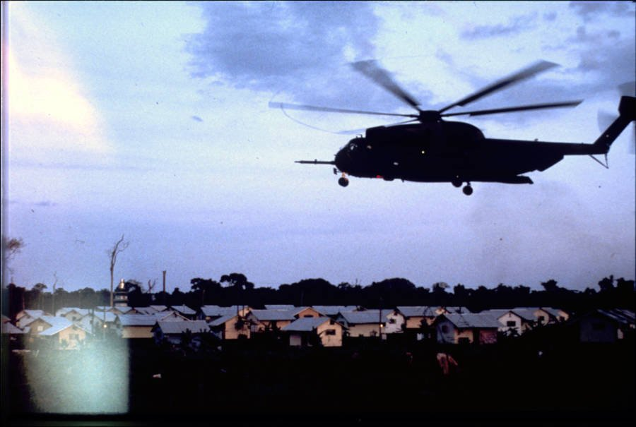 Helicopter At Jonestown