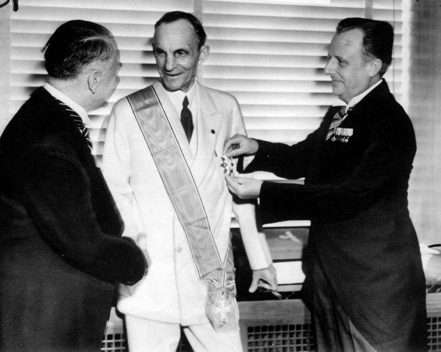Henry Ford Receives German Cross