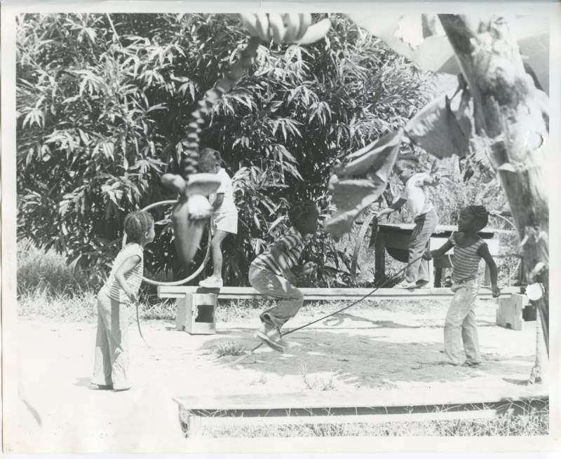 Kids Playing At Jonestown