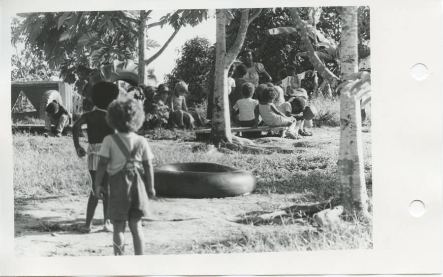 Jonestown Guyana 1978 Outdoor Meeting