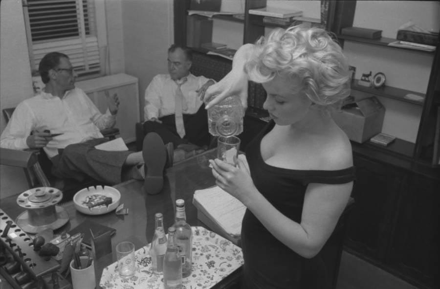 Marilyn Monroe Drinking