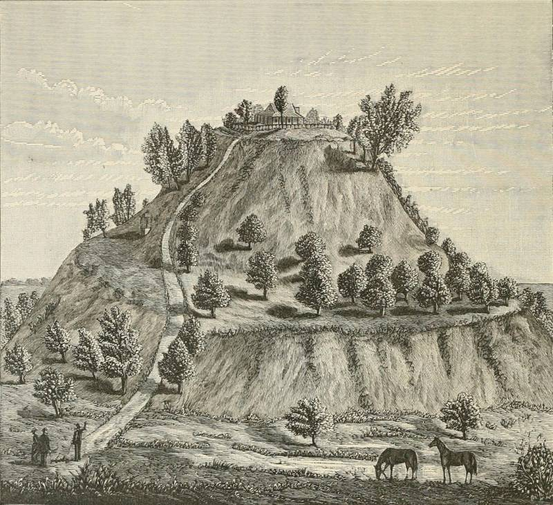 Monks Mound 1882 Illustration