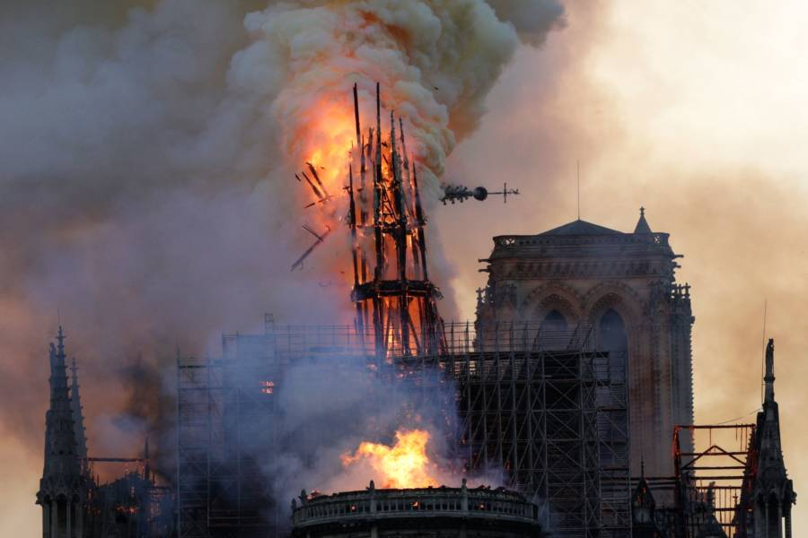 Notre Dame Fire Pictures