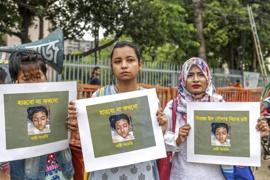 Protesters For Nusrat Jahan Rafi's Murder
