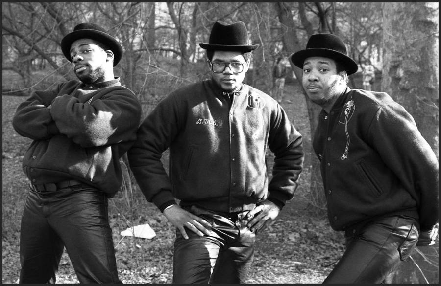Run Dmc In Central Park Early 1980s