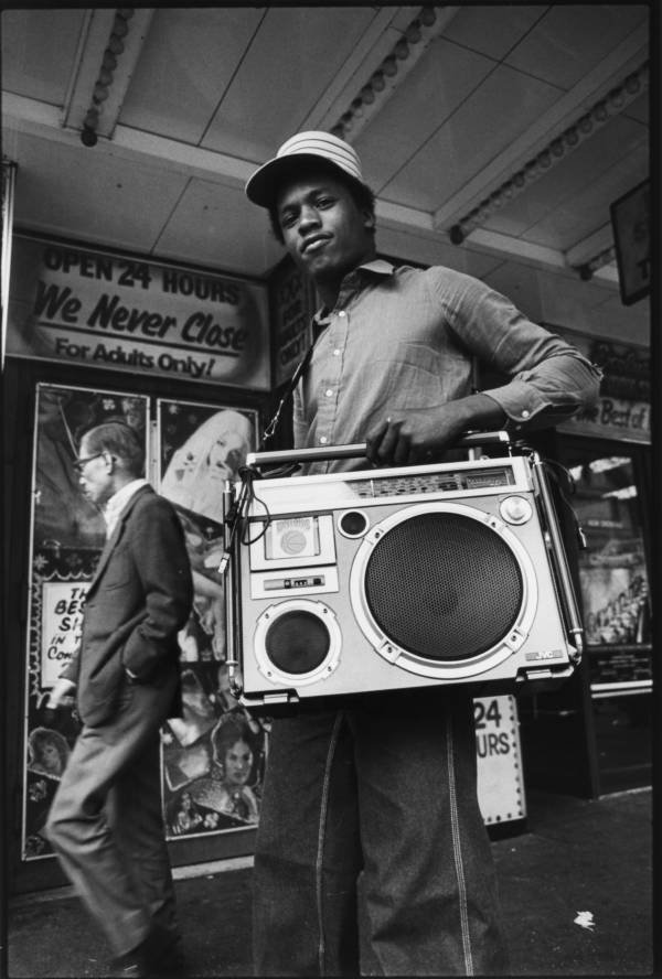 Teenager With Ghettoblaster 42nd Street New York City 1980