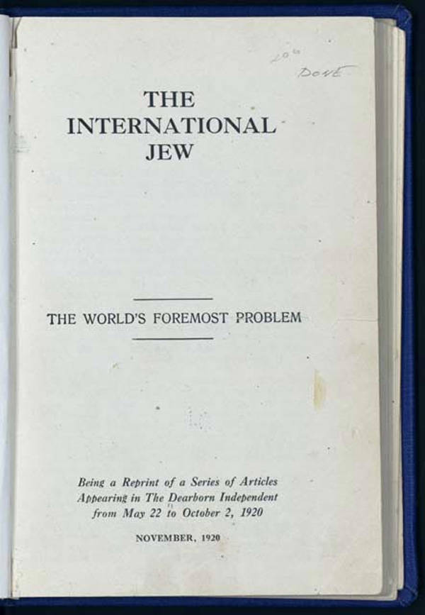 Henry Ford's The International Jew