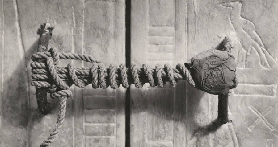 Sealed Door Of King Tut's Tomb