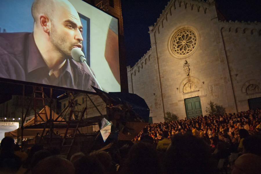Saviano Giving A Talk