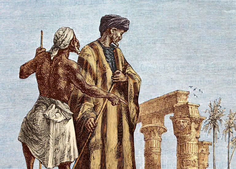 Ibn Battuta With Man In Color