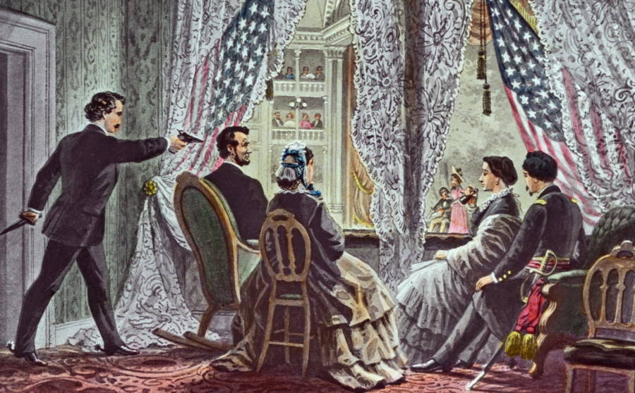 Abraham Lincoln Assassination Rendering