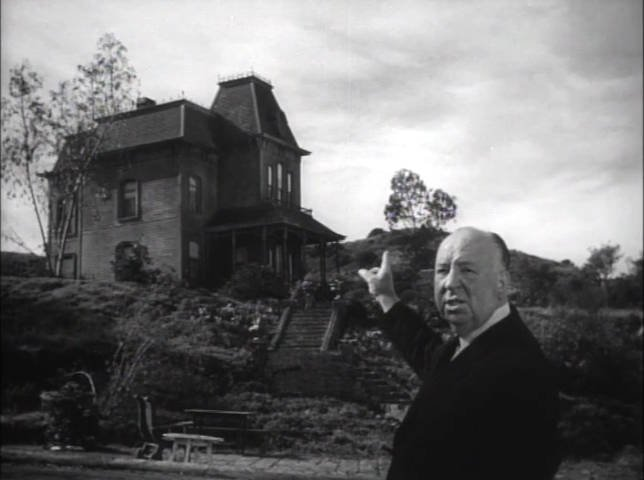 Alfred Hitchcock Near Bates House