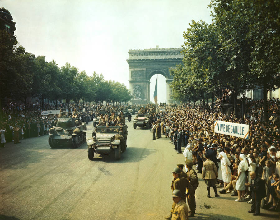 Parade After The Liberation Of Paris
