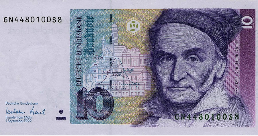 Banknote Showing Gauss