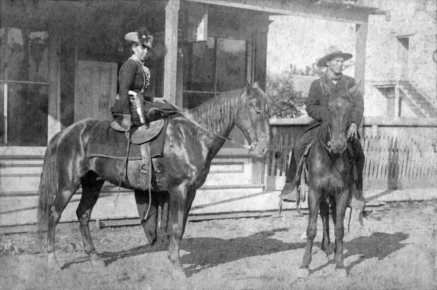 Belle Starr On Horseback