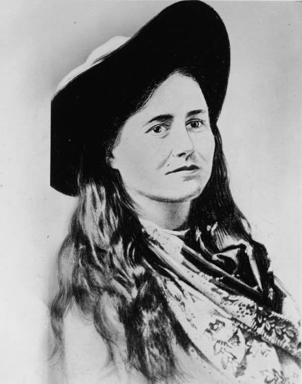 Belle Starr Illustrated Portrait