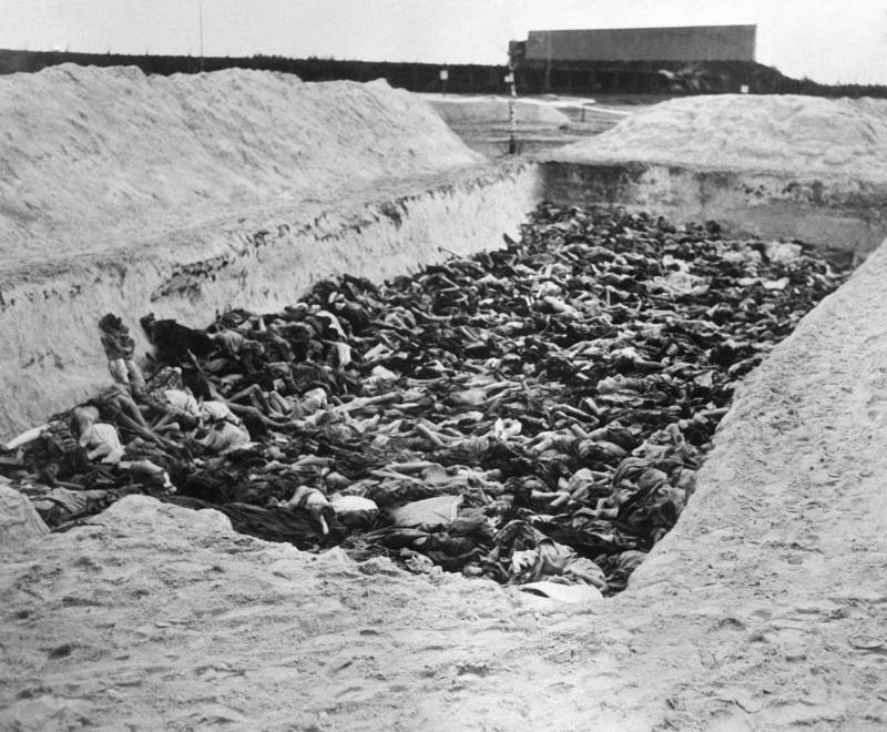 Bergen Belsen Concentration Camp Mass Grave Close Up