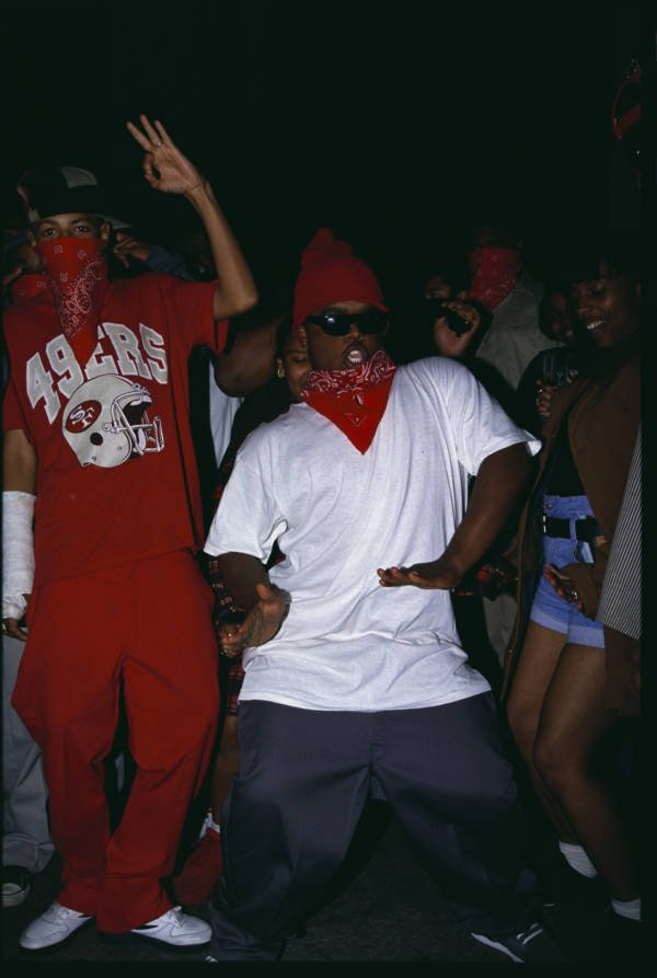 Bloods Making Music Video Dance La March 18 1993
