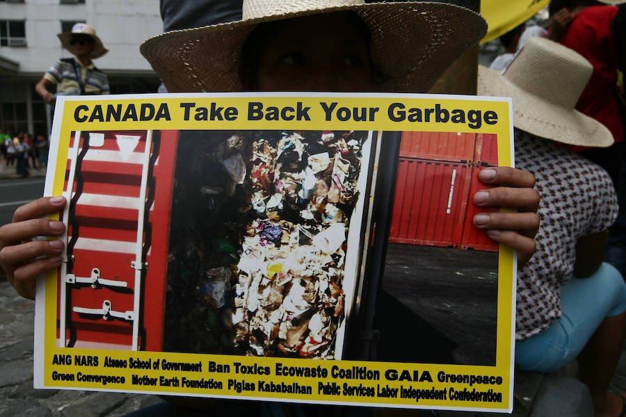 Canadian Trash Protester In Manila