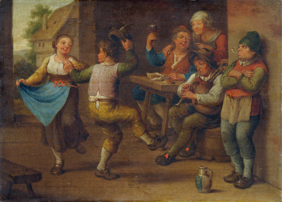 Celebrating Peasants Painting