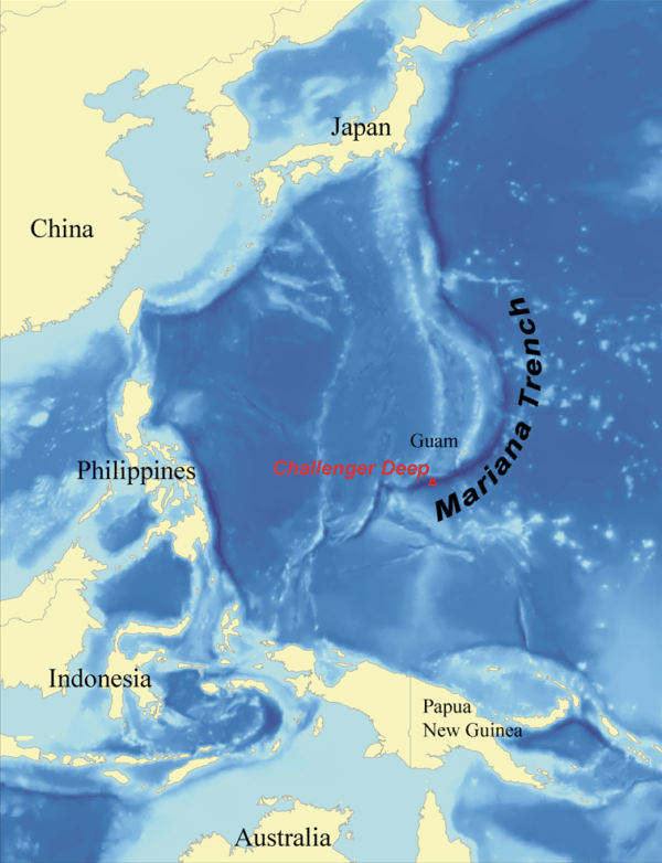 Map Of The Deepest Part Of The Ocean