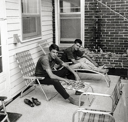 David And Ted Kaczynski In Lawn Chairs