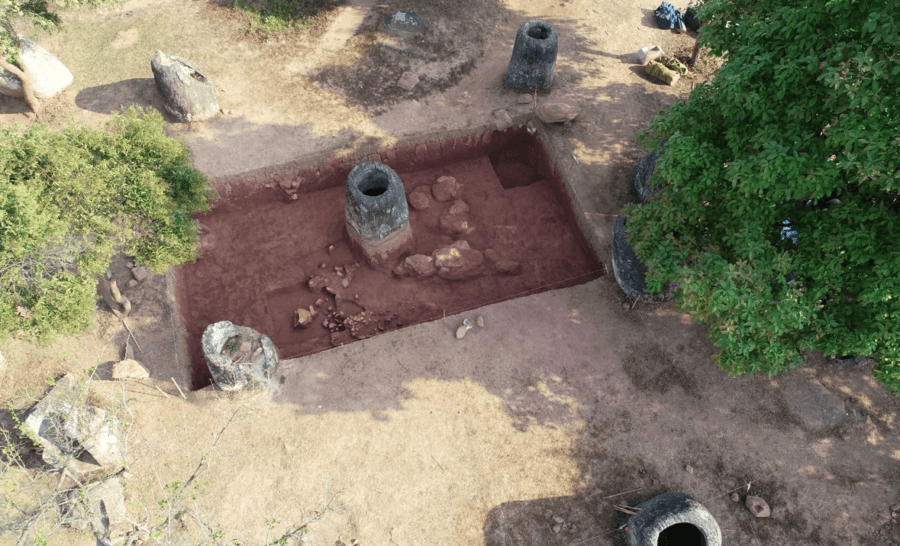 Death Jars Excavation Site Laos
