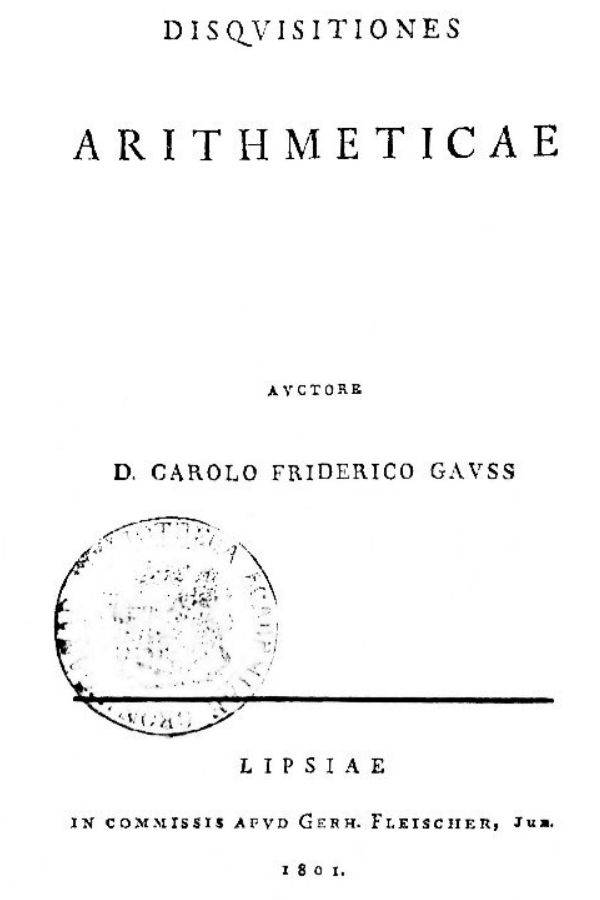 Dissertation Of Carl Gauss