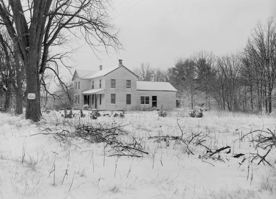 Ed Gein's House In The Snow