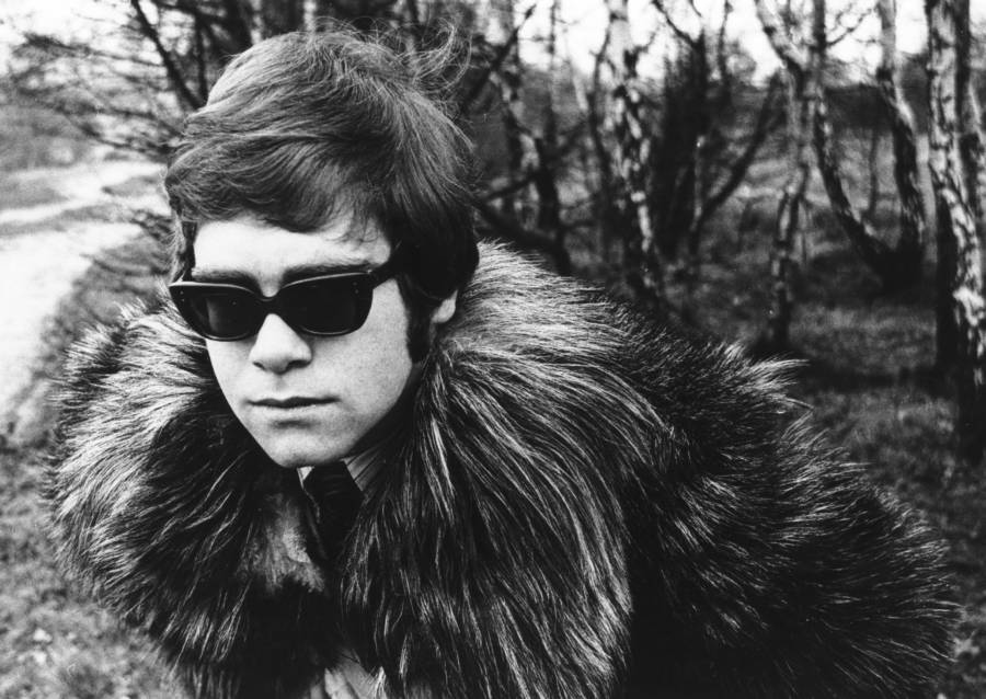 Elton John In Furs And Glasses