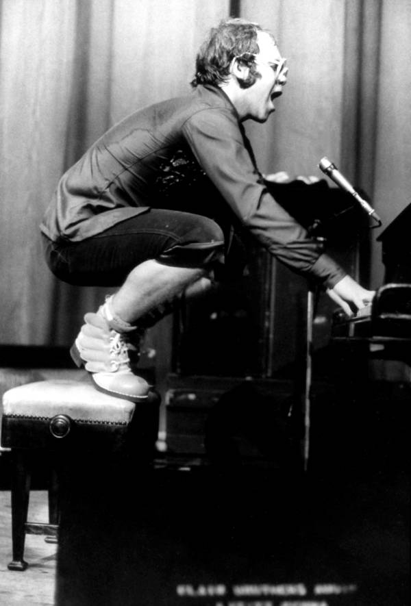 Elton John On Piano Stool