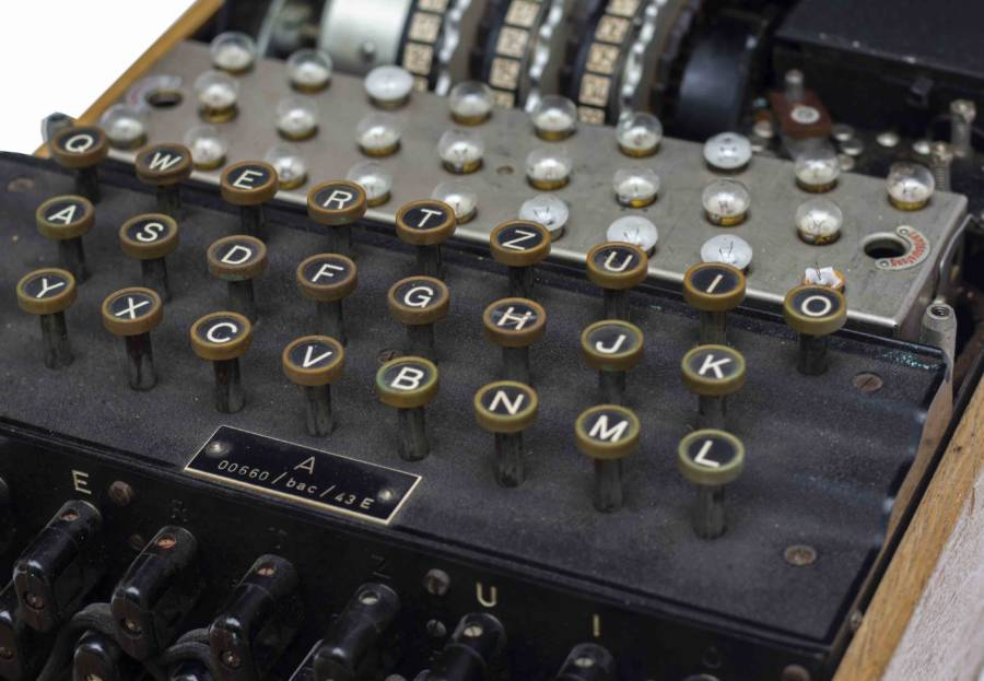Enigma Machine Keyboard Closeup
