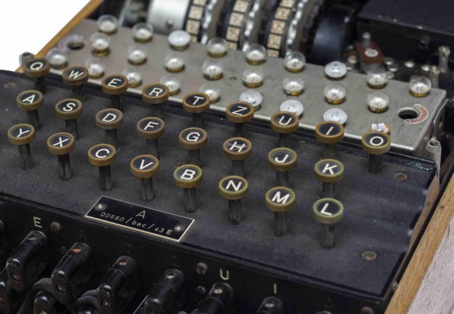 Enigma Machine Keyboard Closeup