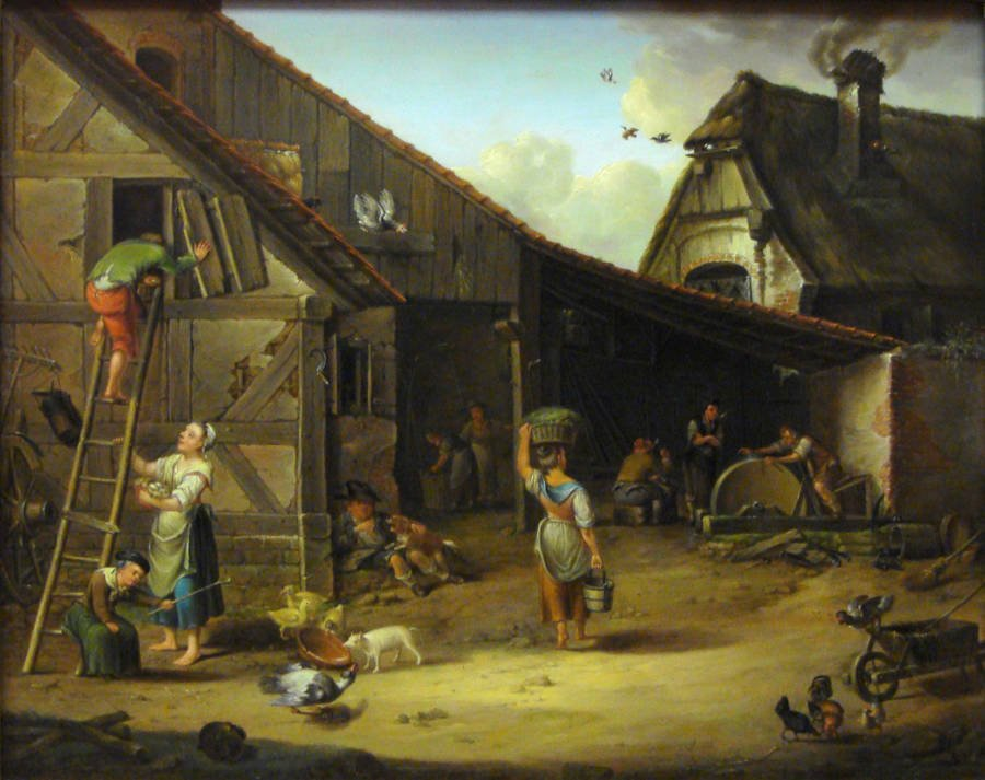 Farm In 1794 Painting