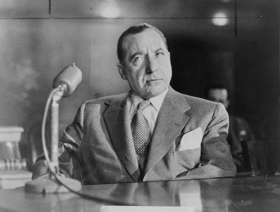 Frank Costello Testifying In Court