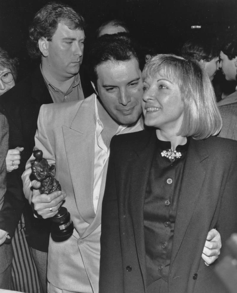 Freddie Mercury Embracing Mary Austin At An Award Show