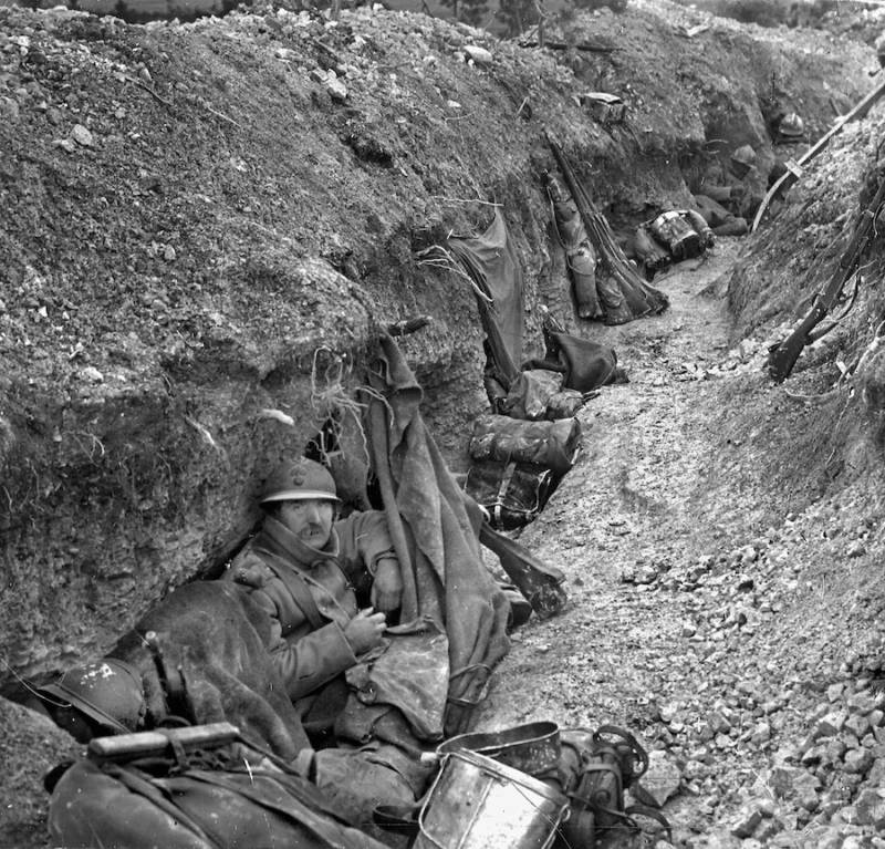 French Soldier In The Verdun Trenches