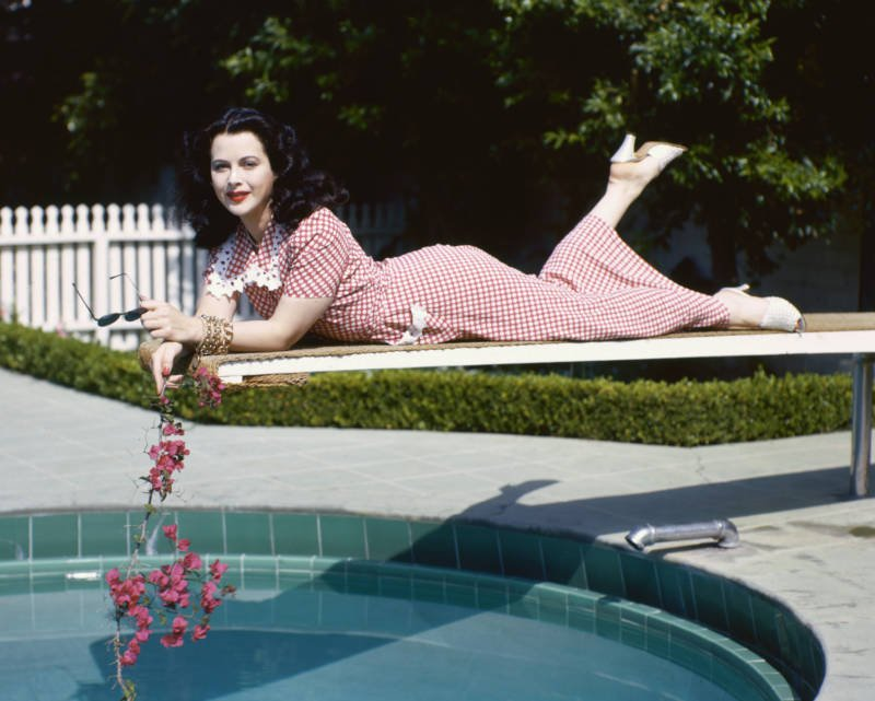Hedy Lamarr On Diving Board