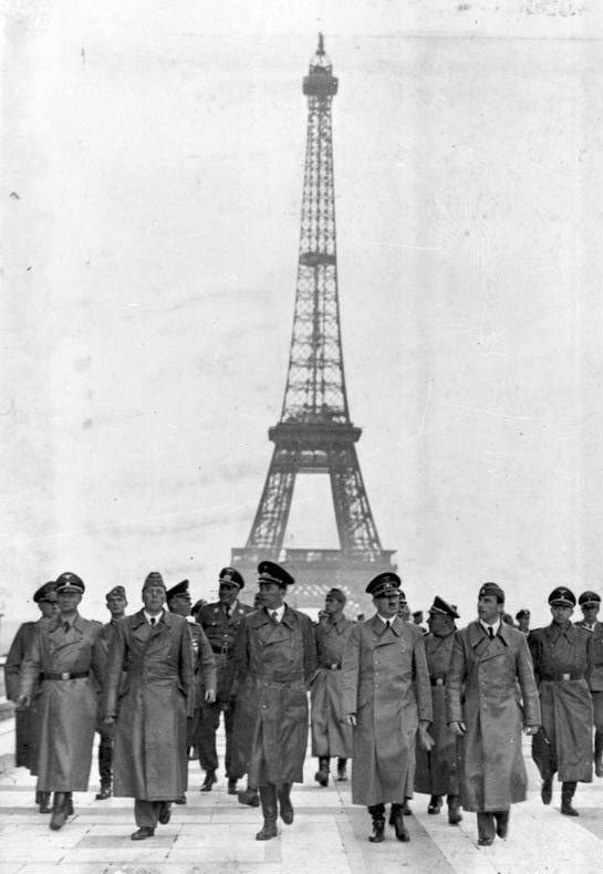 Adolf Hitler In Front Of The Eiffel Tower