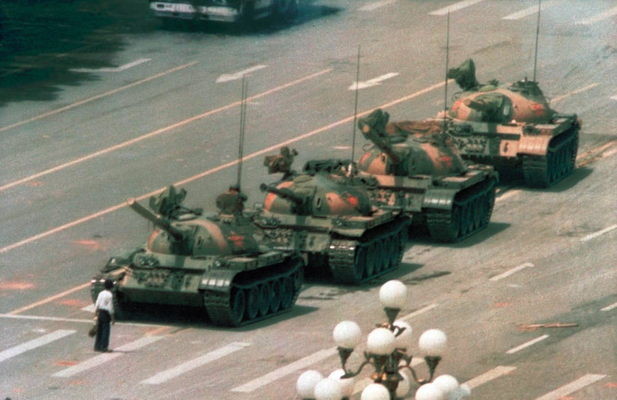 Tiananmen Square Tank Man Photo