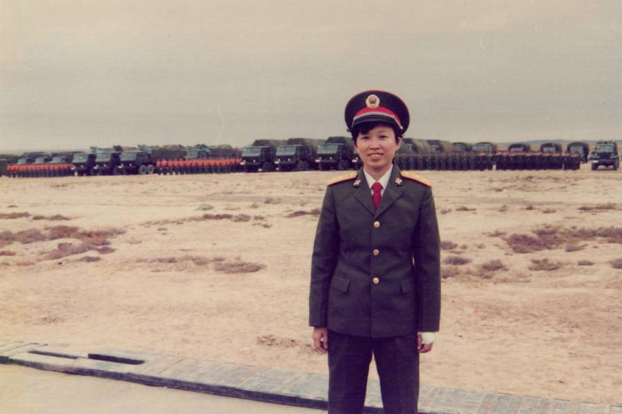 Jiang Lin In Uniform