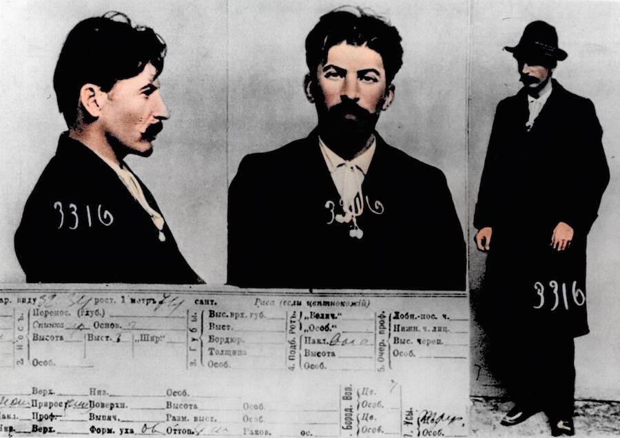 Joseph Stalin Colorized Mugshot