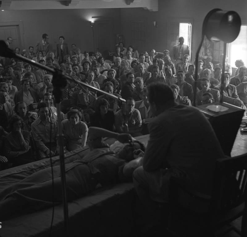 L Ron Hubbard Conducting Dianetics 1950