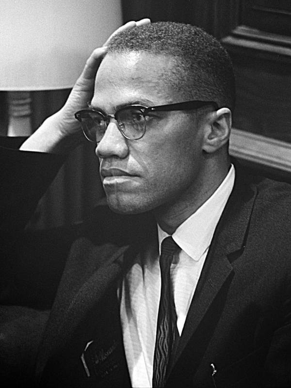Malcolm X Side Portrait