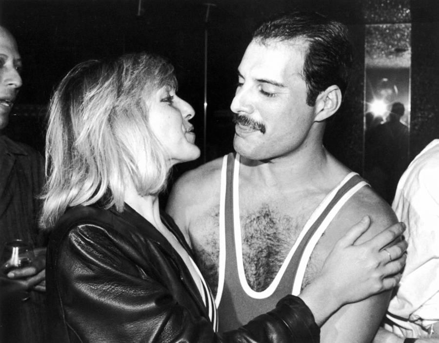 Mary Austin Embraces Freddie Mercury