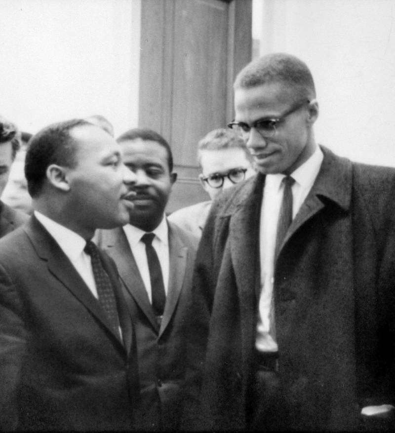 MLK And Malcolm X Meet