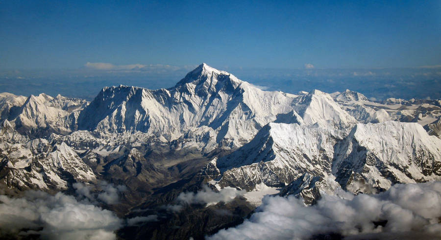 Mount Everest Aerial Shot