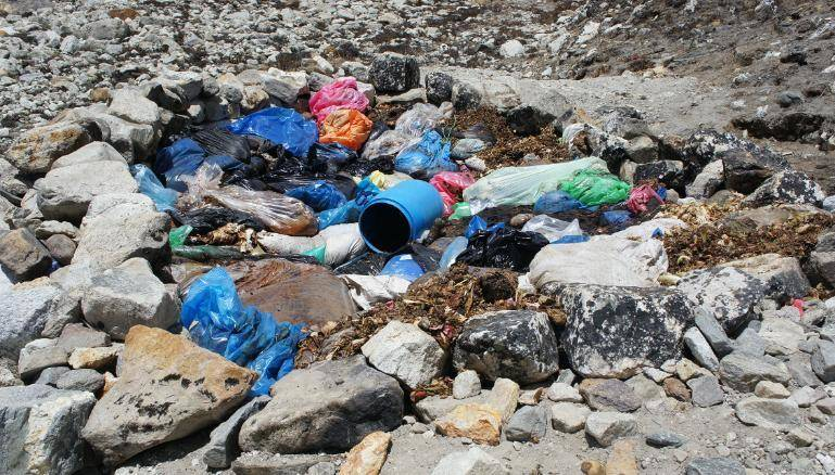 Mount Everest Cleanup Project Trash