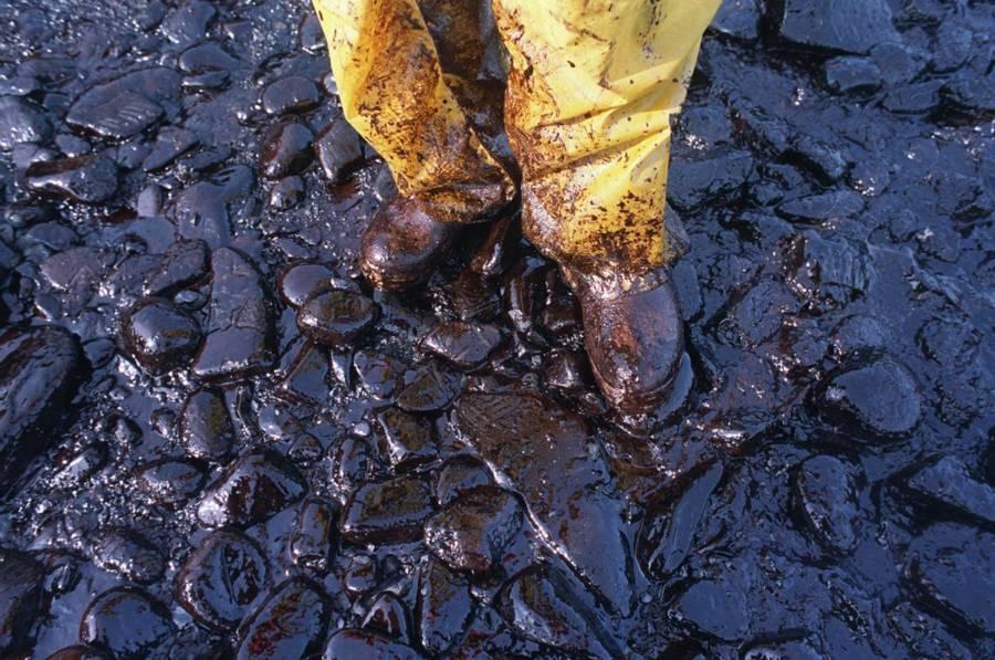 Oil Boots Exxon Valdez