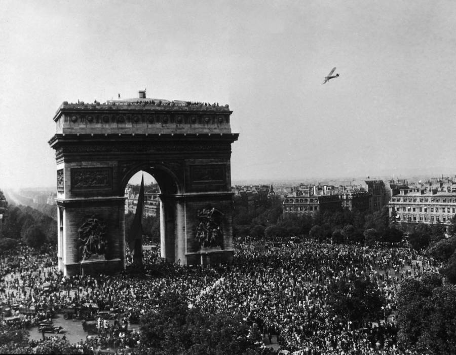 Arc De Triomphe After Paris Liberation